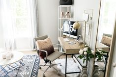 blog office reveal on a budget office inspo pinterest