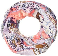 PIECES Damen Umschlagtuch Pcjerl Tube Scarf, All over print, Gr. One size, Mehrfarbig (Rubber Rubber)