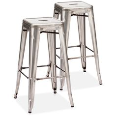 Thos. Baker Hudson Bar Stools (Pair) (£265) ❤ liked on Polyvore featuring home, furniture, stools, barstools, steel furniture, bistro bar stools, steel stool, yard furniture and cafe furniture