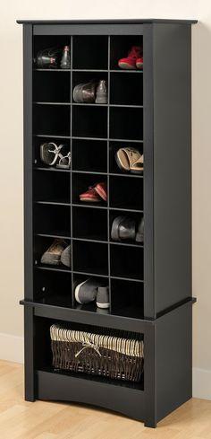 Tall Shoe Cubbie Cabinet #furniture_design #organization