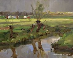 roos-schuring-landscape-spring-26-changing-light-willows-ditch-cows-klbld.jpg (737×586)