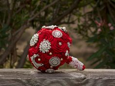 Red Bouquet.Ready to ship. Handmade by AntonellaMia, only $169.00