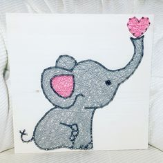 Elephant String Art- order from KiwiStrings on Etsy! www.KiwiStrings.etsy.com