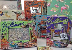 """New grouping of decoupage goodies including the ever popular Baltimore themed """"B""""'s, frames and journals. All decoupage hand-crafted by MTFF's own Terri Yellalonis. SOLD OUT!"""
