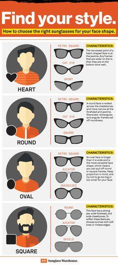 1fbdca1618 How to Choose the best Sunglasses for Your Face Shape  bestglasses  eyetip   faceshape