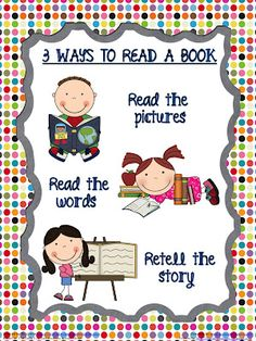 Classroom Freebies Too: 3 Ways to Read a Book (Printable Poster)