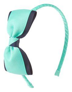 Contrast Bow Headband at Gymboree