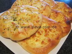 Super softe und pikant überbackene Käse-Fladenbrote « kochen & backen leicht gemacht mit Schritt für Schritt Bilder von & mit Slava