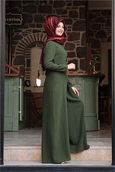 Pınar Şems - Stil Tulum - PS-5830 - Haki