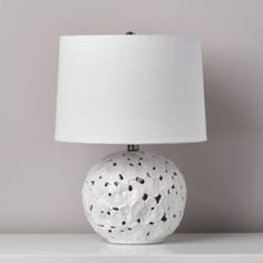 Pressed Flower Petal Table Lamp (White) From The Home Decor Discovery Community At www.DecoandBloom.com