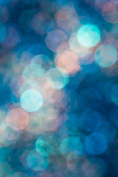 Milky Way. Abstract bokeh photography in blue and pink by Jan Bickerton at PurePhoto.com.  #bokeh