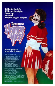 Return to Horror High (1987) - Never seen the movie, but this is the funniest cover ever! (^L^)