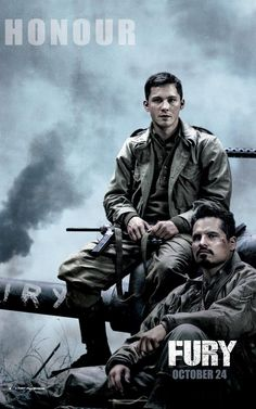 New Character Posters for WWII Movie Fury - Pissed Off Geek