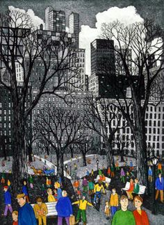 Central Park (Etching)