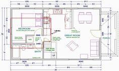 14x40 cabin floor plans tiny house pinterest cabin for Prefab granny unit california