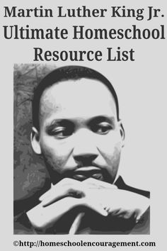 Martin Luther King Jr. Day: Ultimate #Homeschool Resource List from Homeschool Encouragement - Printables, Activities, Crafts, Books, Audios, Videos, and more!