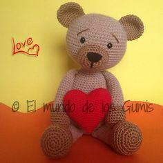 Amigurumi Valentine Bear - FREE Crochet Pattern / Tutorial
