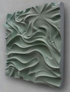 Drapery (2009)    Polystyrene, CNC machined  1.80m x 0.90m x 0.10m  Private commission