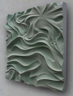 Daniel Widrig Drapery (2009) Polystyrene, CNC machined