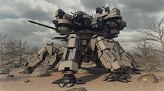 Desert Spider Mecha by Avitus12.deviantart.com on @deviantART