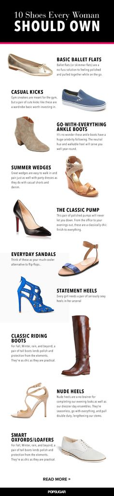 The 10 shoes every woman should have in her closet from @POPSUGARFashion