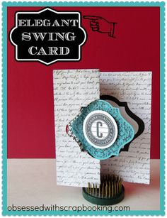Close to My Heart Artiste Cricut Fancy Shape Swing Card with VIDEO!
