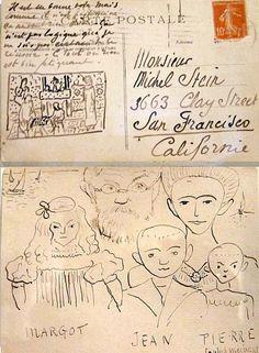 Letter from Henri Matisse to Michel Stein