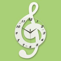 Creative music shape wall clock. A good choice for your home decoration. Eye-catching! Contact us: CJQ057989911607@outlook.com