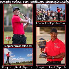 Keepinit Real Golf News: Tiger Woods Wins The WGC Cadillac Championship  Woods dominated the WGC Cadillac Championship with a string of stats so remarkable that they're starting to make people whisper that, finally, the old Tiger Woods is back. The victory was Woods's 76th in a PGA event and brings him ever closer to Sam Snead's record 82. Snead was 45 when he won his 76th; Woods is 37, for what that's worth.