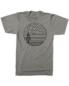 Nature Original Printed Short Sleeve Shirt Size XS-2XL Big,Mountain Hills Landsc