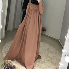 Modest Fashion Hijab, Hijab Style Dress, Modern Hijab Fashion, Dress Indian Style, Abaya Fashion, Muslim Fashion, Fashion Dresses, Simple Dresses, Nice Dresses
