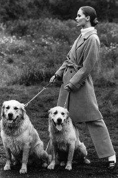 Celia Hammond in a camel-hair coat. Photo: David Montgomery for Vogue UK, 1968.
