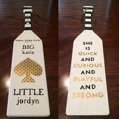 liamsqueen:kate spade inspired paddle for my big! ♠️: