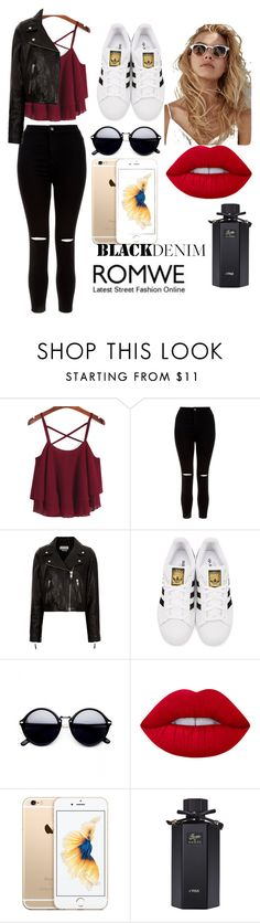 """""""romwe contest :)"""" by grungeprinzessiin ❤ liked on Polyvore featuring New Look, Étoile Isabel Marant, adidas Originals, Lime Crime and Gucci"""