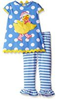Rare Editions Big Girls' Duck Applique Legging Set