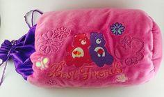 "Care Bears Best Friends Plush Pillow Pink Purple Sack Bag 13"""