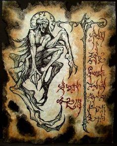 Hp Lovecraft, Dark Fantasy, Fantasy Art, Necronomicon Lovecraft, Demon Book, Lovecraftian Horror, Book Of The Dead, Satanic Art, Dark Artwork