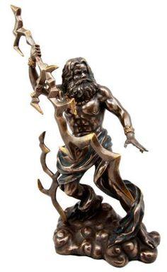 Zeus Greek King of Gods with Thunderbolt Bronze Statue at Mythic Decor, Dragon Statues, Angels & Demons, Myths & Legends Zeus Tattoo, Statue Tattoo, Zeus Greek, Greek Gods, Fairy Statues, Angel Statues, Lightning Bolt Tattoo, Zeus Jupiter, Zeus Statue