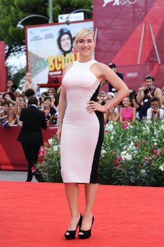 Kate Winslet. she looked great in this figure-hugging Stella McCartney dress