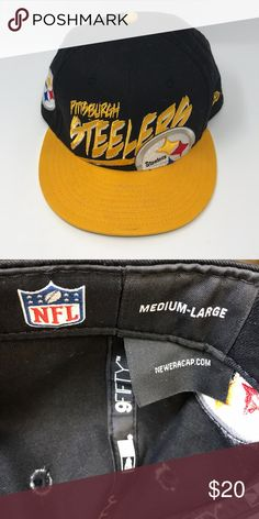 ad3866287ca0b3 Shop Men's NFL Gold Black size OS Hats at a discounted price at Poshmark.  Description: Size M/L Pittsburgh Steelers Hat.