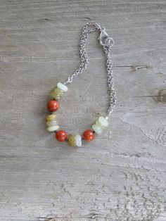 Free shipping Casual bracelet with swamp green jade by gembracelet, $20.00
