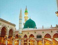 Bahar-e-Durood O Salam: Gumbad e Khazra , Masjid e Nabawi Al Masjid An Nabawi, Imam Ahmad, Best Islamic Images, Medina Mosque, Mecca Kaaba, Green Dome, Mekkah, Beautiful Mosques, Jumma Mubarak