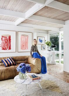Artist Prudence Oliveri's bold and beautiful Torquay home