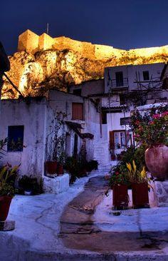 Αnafiotika,  a picturesque neighborhood on the northeastern side of the Akropolis, Athens, Greece