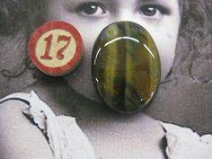 Semi Precious Stone Tigers Eye Polished by dimestoreemporium, $8.00