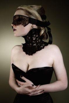 Photography by  Image 23. Model: Hexabelle. 'Elegant Victorian inspired black lace neck corset' by Karen von Oppen.
