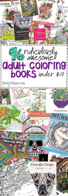 96 ridiculously awesome adult coloring books under 10