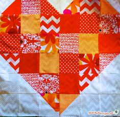 Free Heart Quilt Pattern: Made By Marzipan