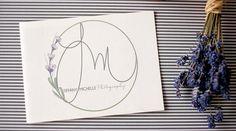 PORTFOLIO · Hamptons Designs Hand drawn initials custom logo custom web design branding brand stylist lavender photography photographer watermark
