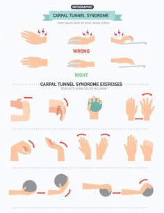 Carpal Tunnel Relief, Carpal Tunnel Syndrome, Pain Relief, Dor Cervical, Carpal Tunnel Exercises, Tennis Arm, Physical Therapy Exercises, Health And Fitness Magazine, Healthy Diet Tips